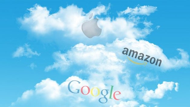 A Handy chart COMPARES CLOUD SERVICES GOOGLE, AMAZON & iCloud